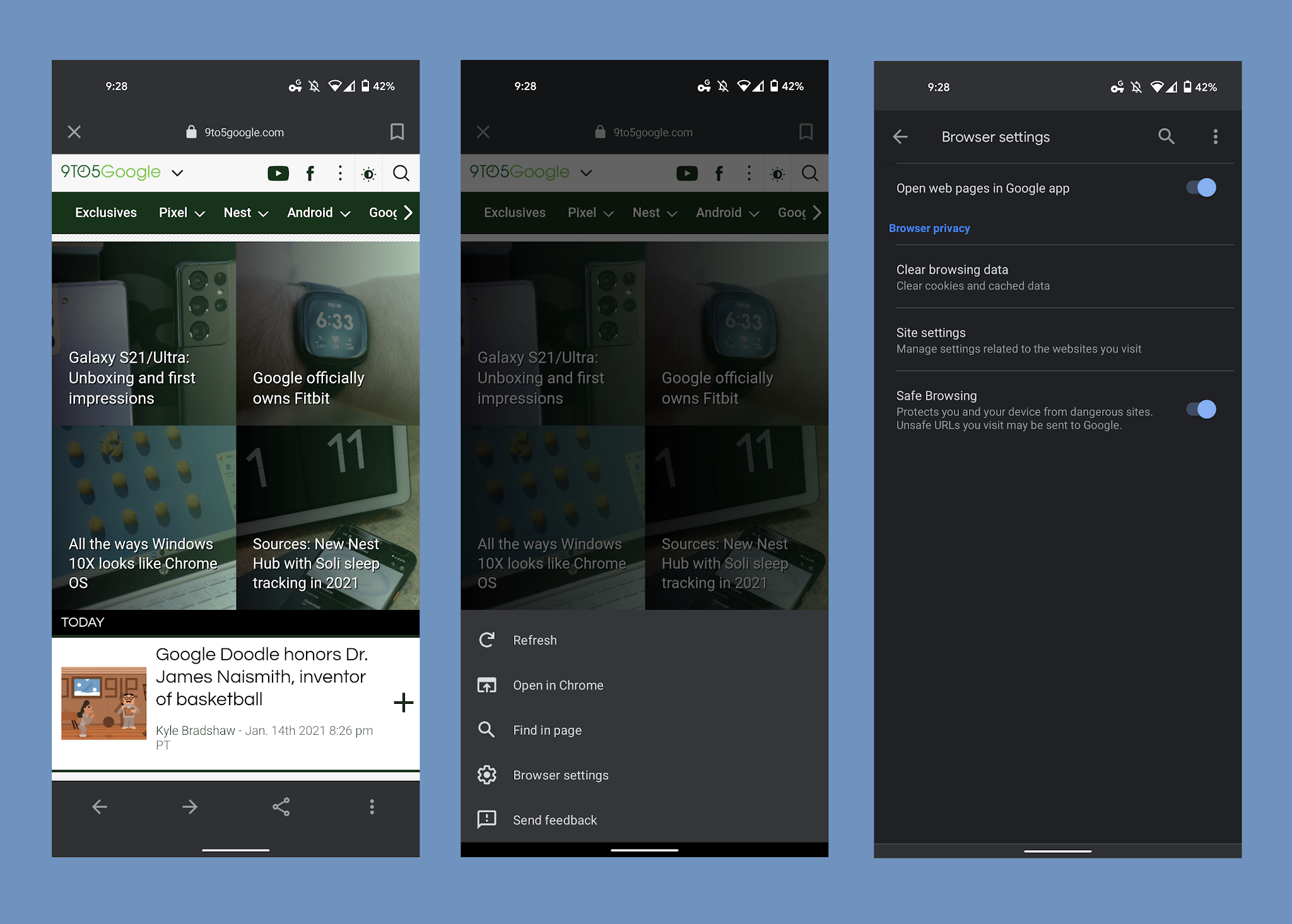 Google Testing in App Browser Redesign with the Bottom Bar in the Google Apps for Android - Digital Information World