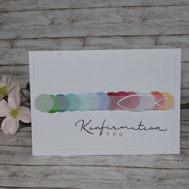 [DIY] Regenbogen-Fisch | Konfirmations-Karte mit Transparentpapier