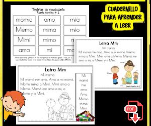 Cuadernillos de lectoescritura para imprimir pdf