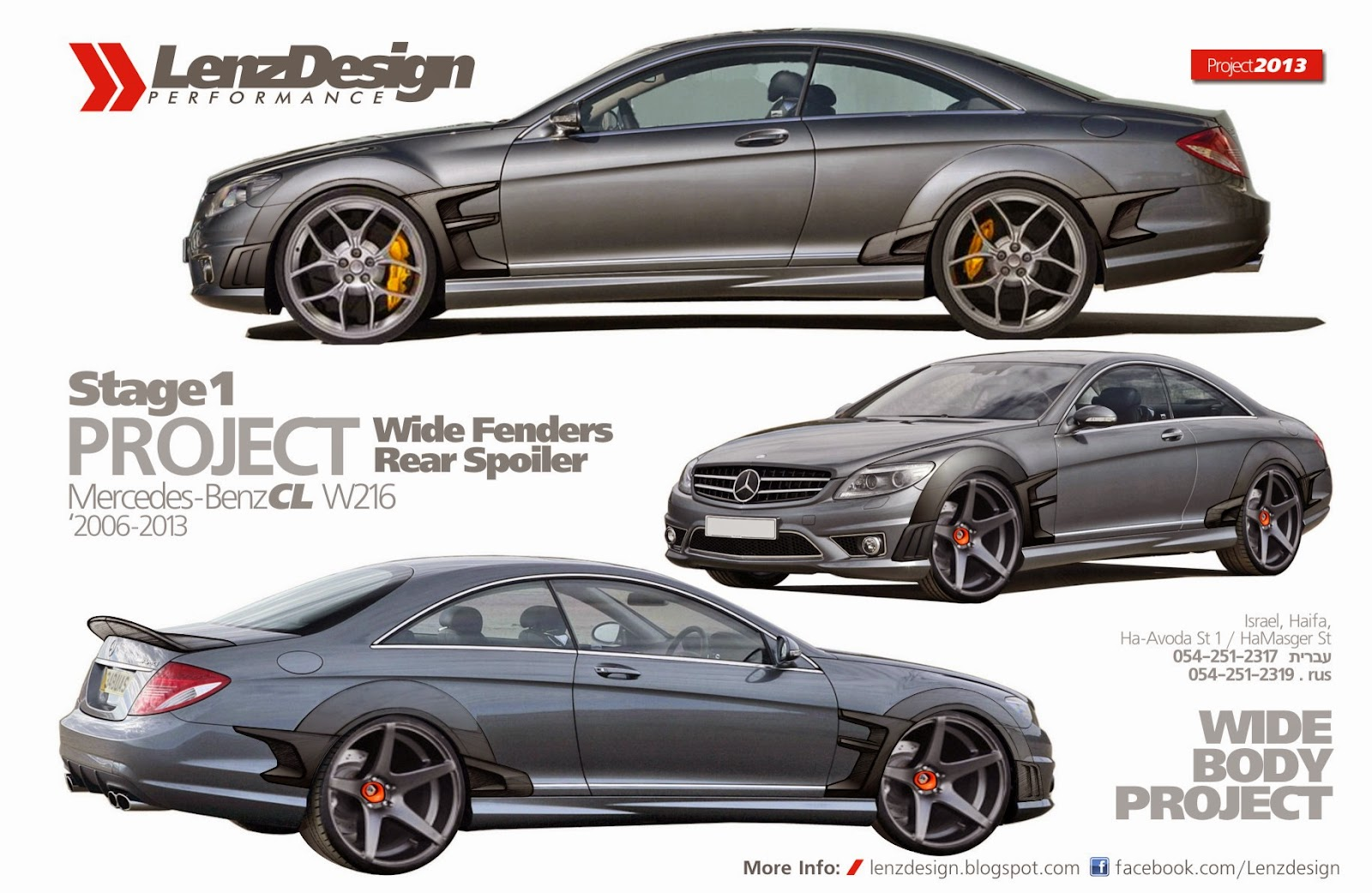 Mercedes benz cl w216 wide body kit lenzdesign performance for Mercedes benz custom parts