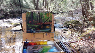 Plein air painting in progress