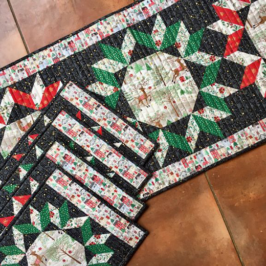 Silent Night Table Runner Free Quilt Pattern
