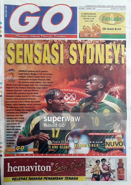 SYDNEY 2000 PATRICK MBOMA OF CAMEROON