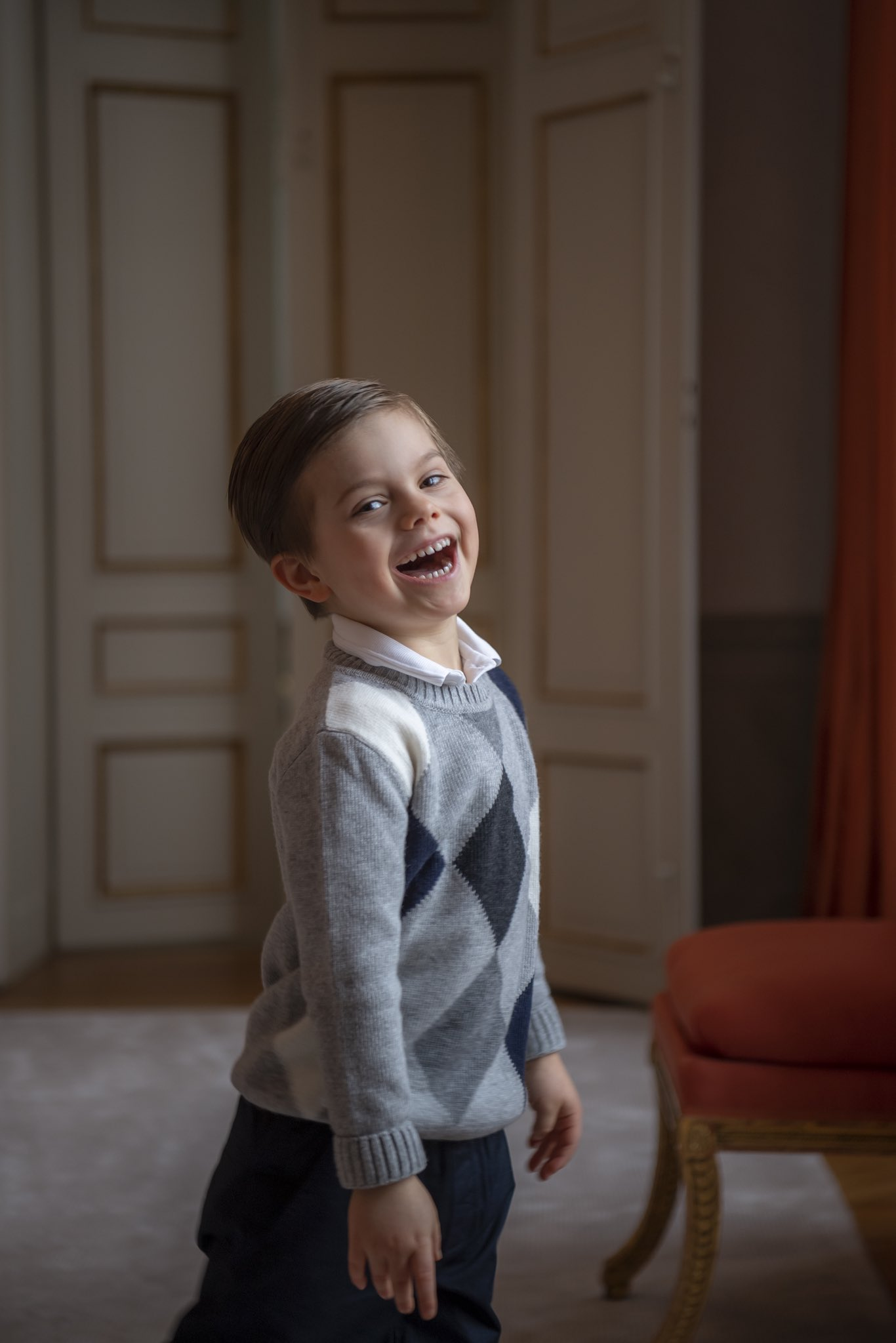 Swedish Prince Oscar is 5 today
