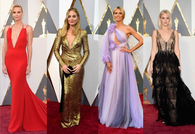 Charlize Theron veste Dior Margot Robbie Heide Klum veste Marchesa Jennifer Lawrence veste Dior