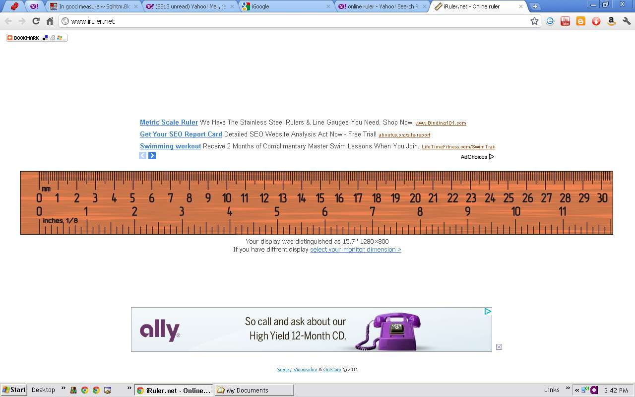 Actual Size Ruler Online Mm Cm Inches Screen Measurements