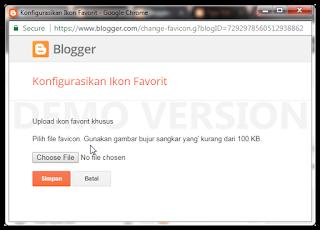 Cara Membuat dan Memasang favicon Blog