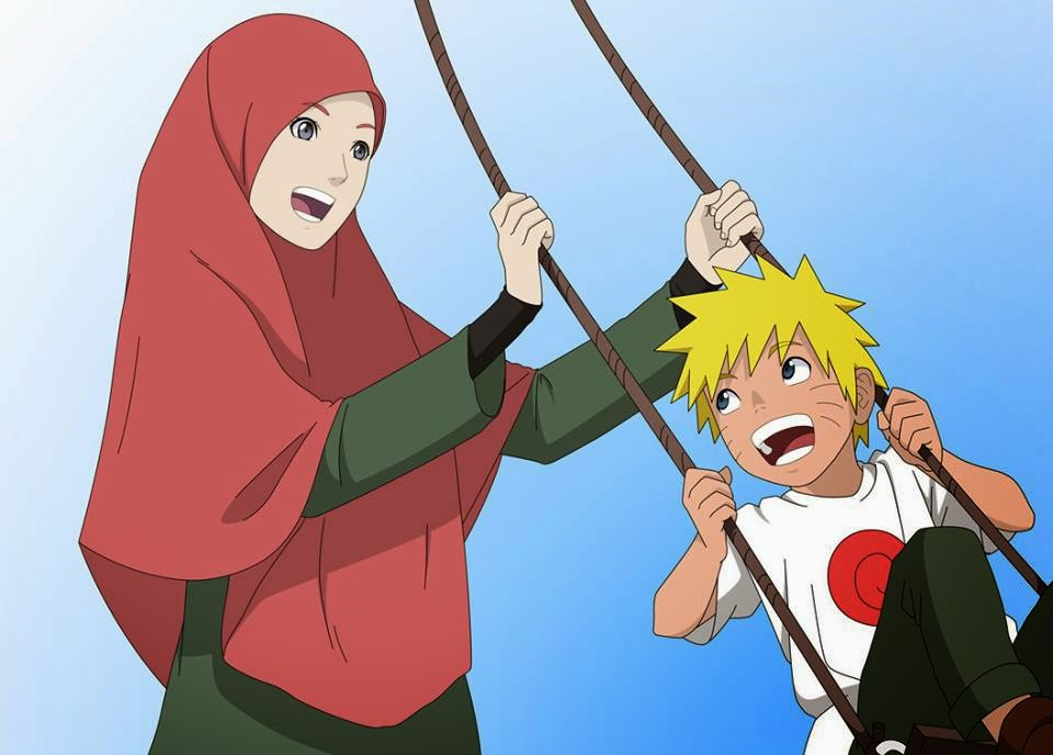Naruto Dengan Ibunya Yang Berhijab