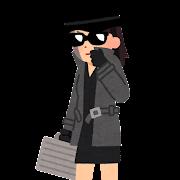 スパイのイラスト(女性)