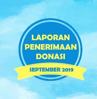 LAPORAN PENERIMAAN DONASI SEPTEMBER 2019
