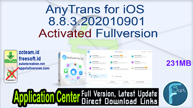 AnyTrans for iOS 8.8.3.202010901 Activated Fullversion