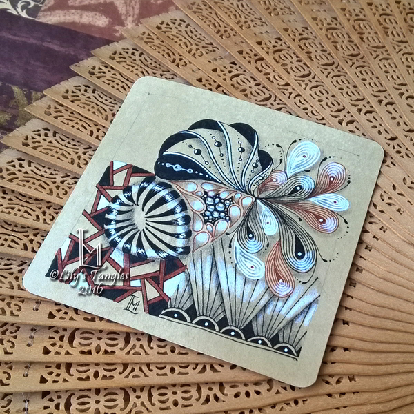 Lily 39 s tangles weekly tiles - Muster malen ...