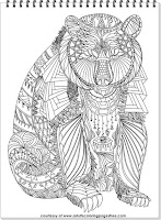 free coloring pages for adults bear