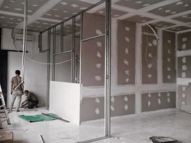 Partisi Gypsum Board Untuk Dinding dan Plafon