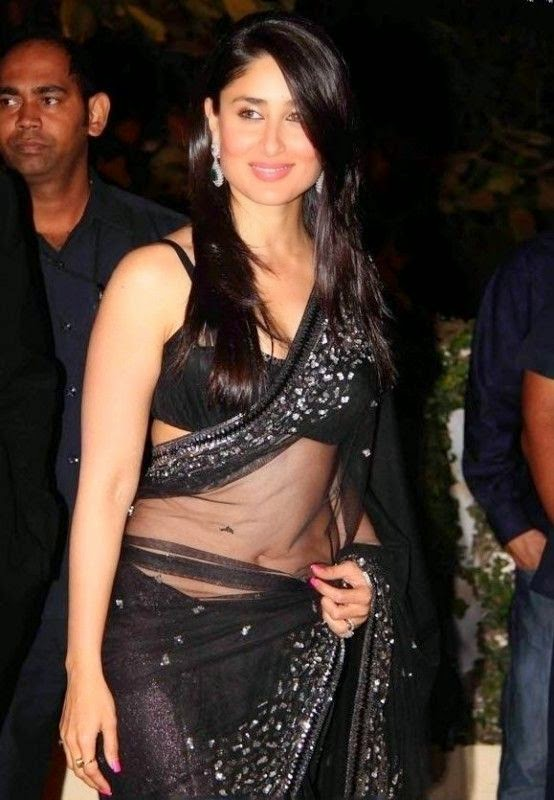 kareena kapoor hot navle hd images in transparent saree pics