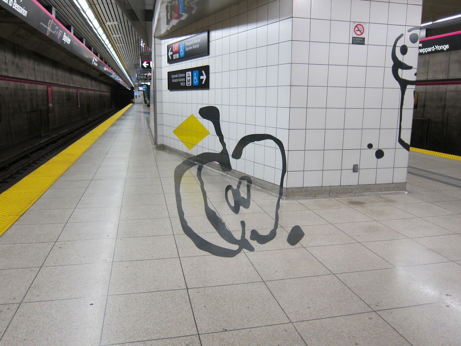 Photo: Anamorphic apple slice image at platform level