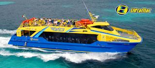Ferry ultramar, Puerto Juarez, Cancun-Isla Mujeres, México