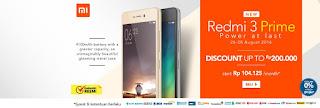 Promo, Harga dan Spesifikasi Xiaomi Redmi 3 Prime