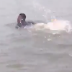 Whose brothers are these swimming in Lekki flood? Lol (videos)