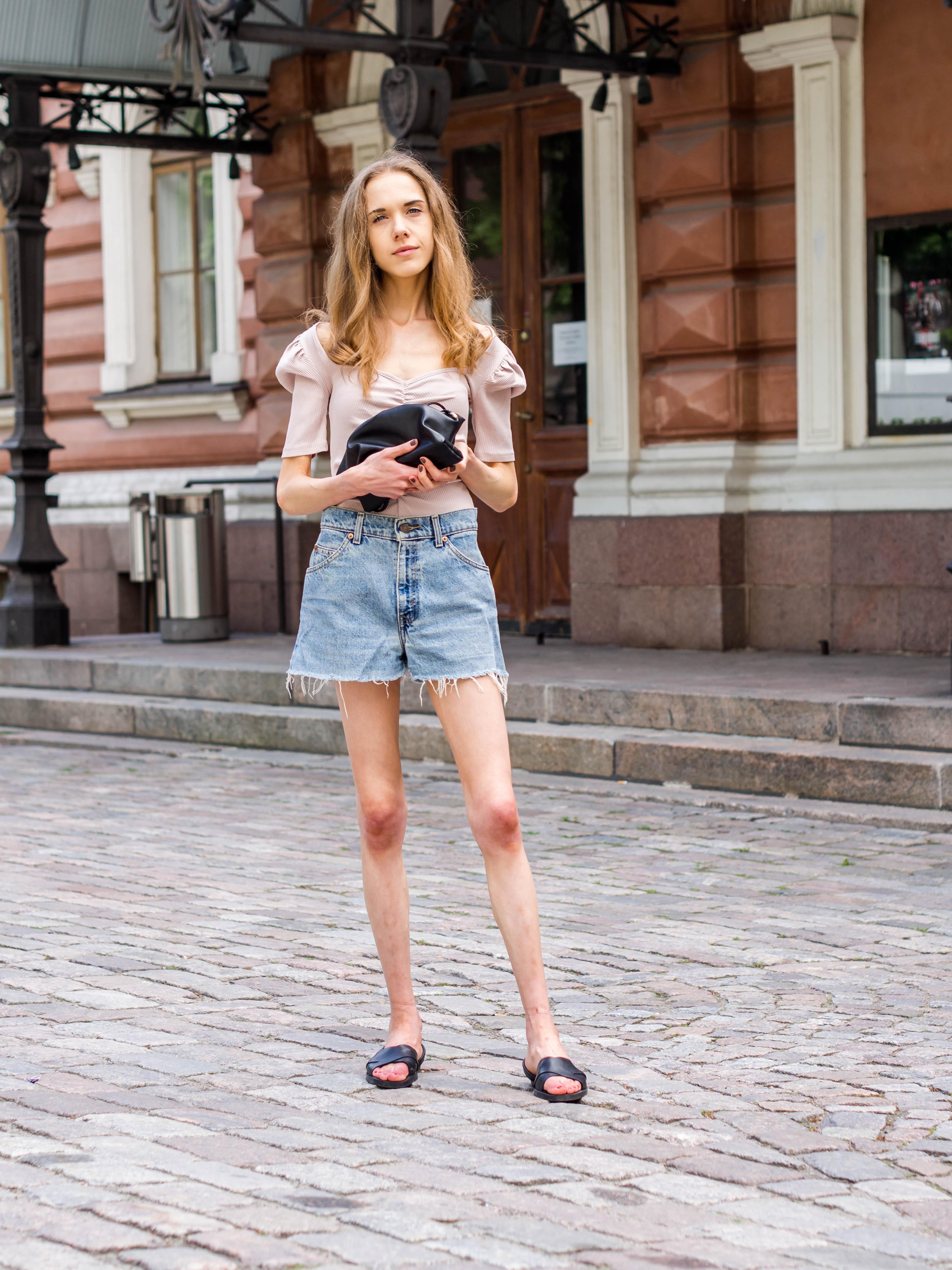 Summer outfit with denim shorts - Kesäasu farkkushortsien kanssa