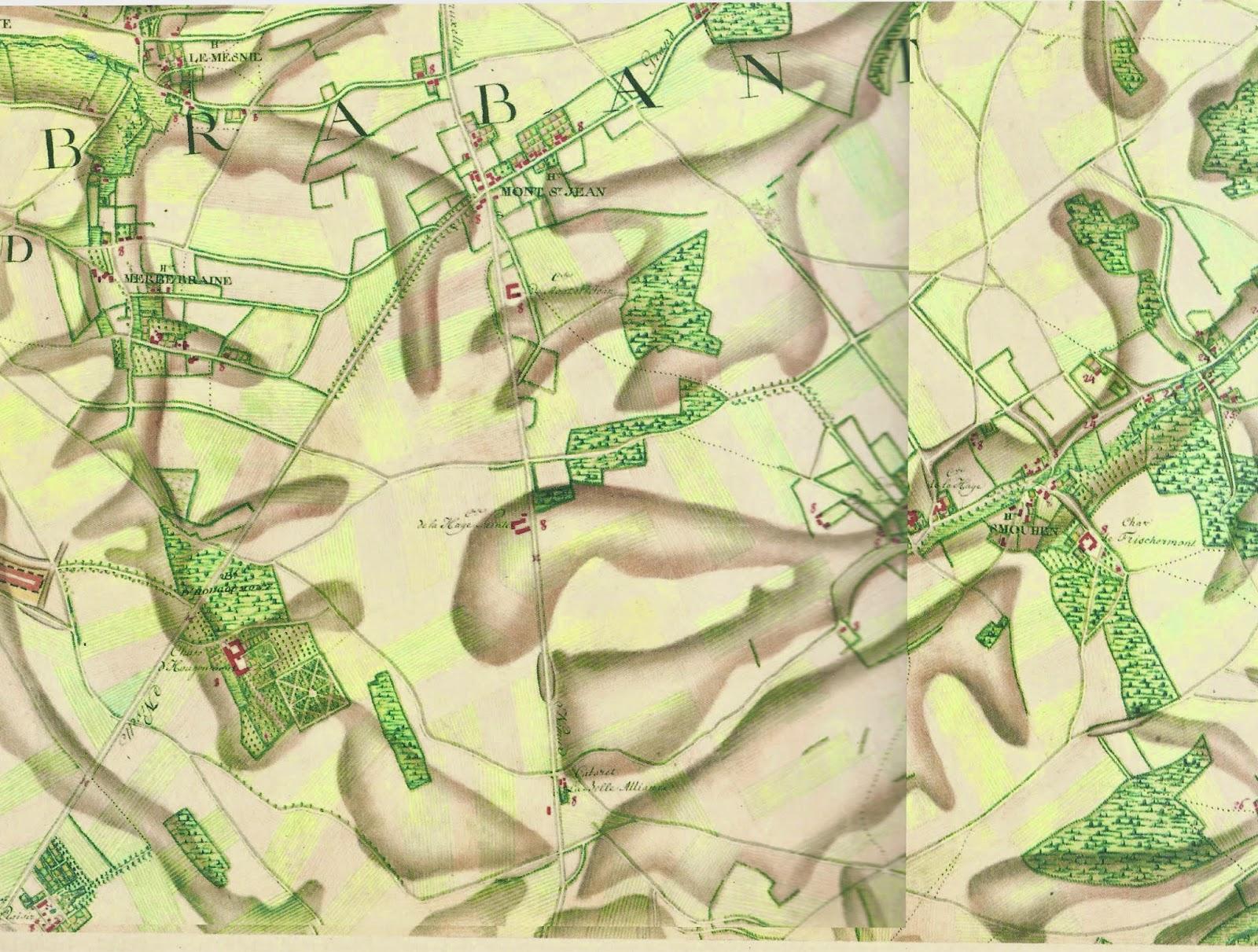 18th Century Waterloo Map - Ferraris