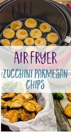 Air Fryer Zucchini Parmesan Chips