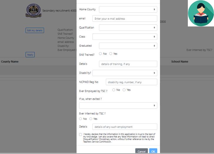 Register and Apply For TSC Jobs Online