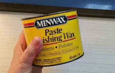 Vintage Paint and more... Johnson's minwax furniture wax is used to prep the board before making a beach house sign for summer