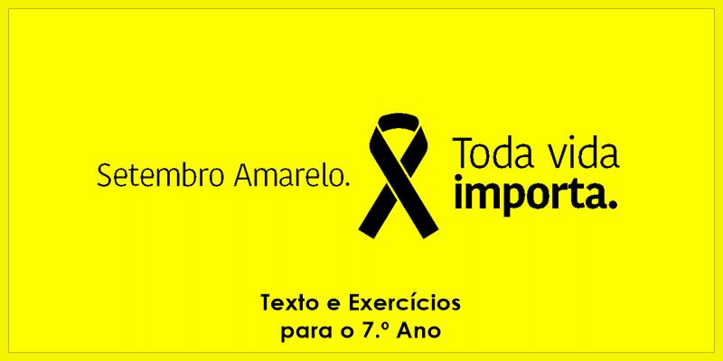 Exercícios sobre Setembro Amarelo