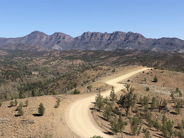 Photo of dusty road in the Flinders Ranges, South Australia