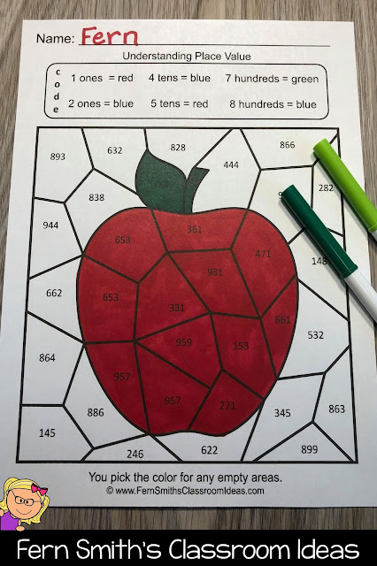 Click Here to Download This 2nd Grade Go Math 2.5 Place Value to 1,000 Bundle of Task Cards, Center Games, and Color By Numbers