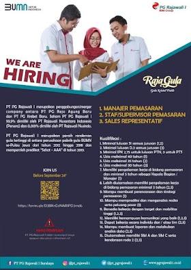 Lowongan Kerja BUMN Terbaru di PT Rajawali Nusantara Indonesia (Persero) Makassar September 2020
