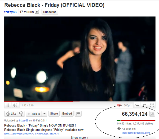 rebecca black friday hate 이미지 검색결과