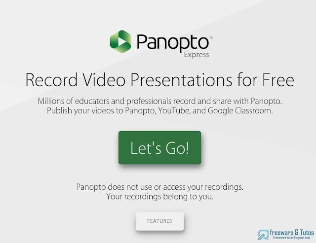 Panopto Express : filmer son écran sans rien installer !