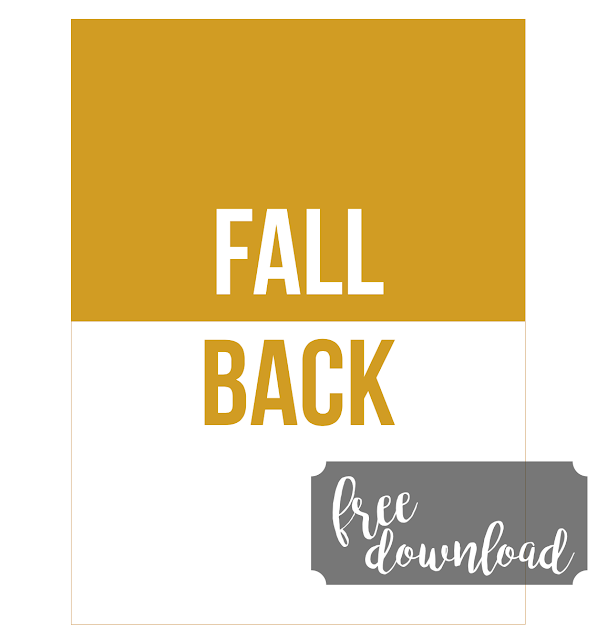 #fall back #fall #time change #journal card #printable #journaling card #Fall #autumn