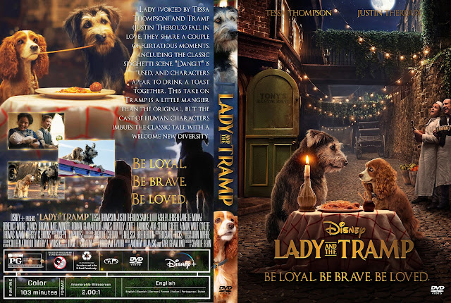 Lady and the Tramp (2019) DVD Cover