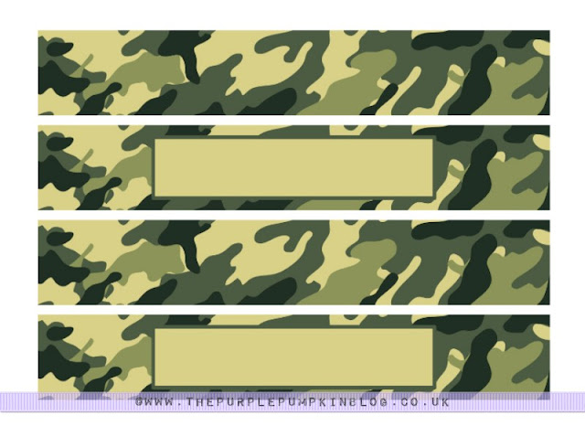 #Army #Party Napkin & Cup Wrappers Free #Printable