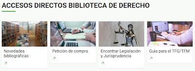 Accesos directos Biblioteca Derecho UAM