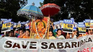 Kerala women protesting against Sabarimala Verdict