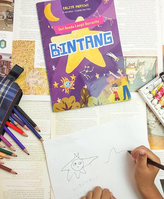 Cover  buku bintang seri langit  bercerita