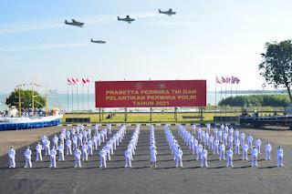 101 Perwira Remaja AAL dilantik Presiden RI di istana negara jakarta