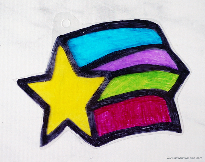 Star Shrink Charm Before Baking