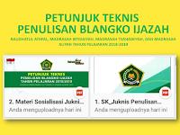 Download Juknis Penulisan Blangko Ijazah Ra, MI, MTs, dan MA Terbaru 2019