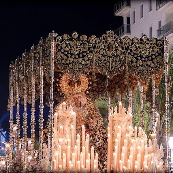 Entrada en Catedral de María Santísima del Rosario (Hdad Perdón). Semana Santa de Cádiz 2019