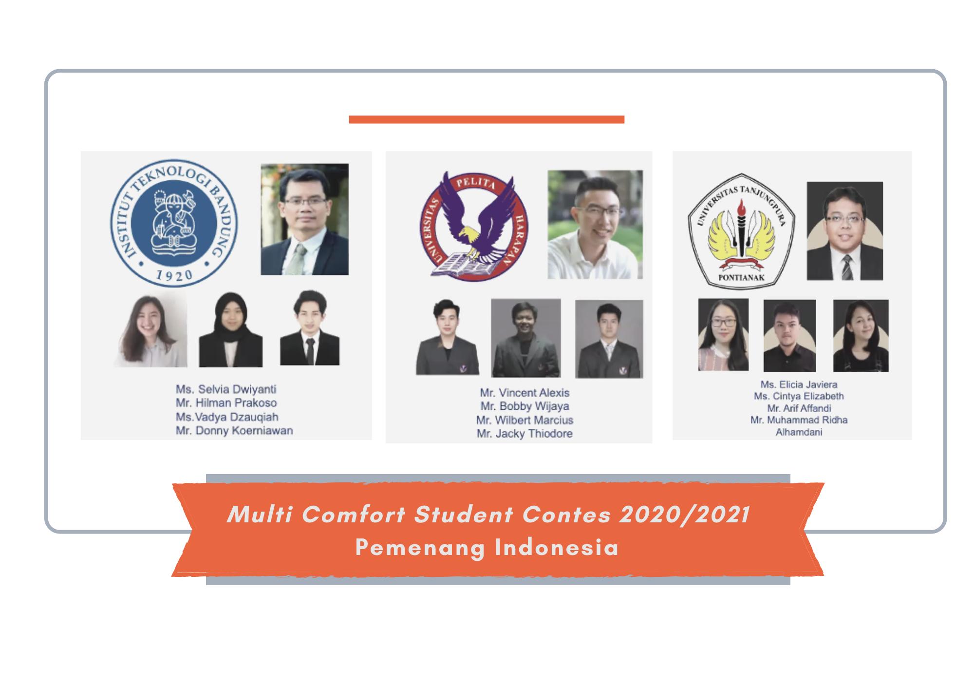 pemenang multi confort student contest 2020/2021