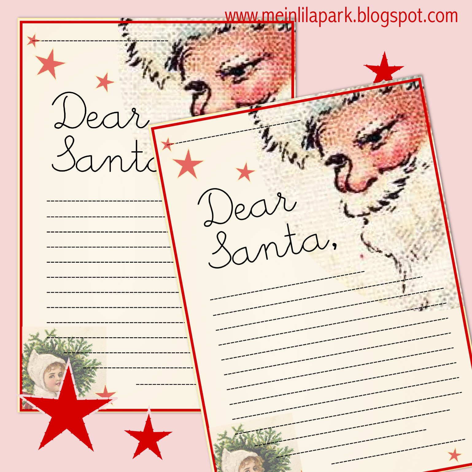 Free printable letter to Santa Claus template for children ...