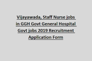 Vijayawada, Staff Nurse jobs in GGH Govt General Hospital Govt jobs 2019 Recruitment Application Form