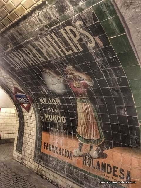 museos metro andén 0 de Madrid