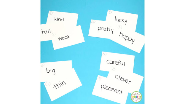 Fun adjectives activities for upper elementary students.