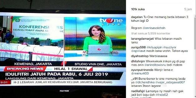 Heboh Foto 'Breaking News' Salah Ketik Tahun Lebaran, Ini Kata TV One